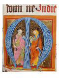 Historiated Initial 'M' with Saints Peter and Paul Giclee Print by  German