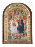 Coronation of the Virgin Giclee Print by  Master of the Fiesole Epiphany