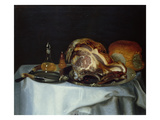 Still Life with Meat and Bread (Pair of 78161) Impression giclée par George, of Chichester Smith