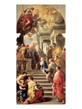 The Presentation of the Virgin at the Temple Premium Giclee Print by Luca Giordano