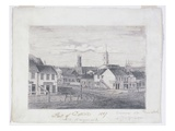 Part of Detroit in 1837, C.1837 (Graphite Pencil on Wove Paper) Giclee Print by William Asa Raymond