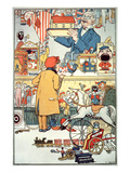 The Toy Shop, C.1910 (Colour Litho) Giclee Print by  English