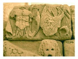 Shield and Armour of a Soldier from a Sarcophagus (Stone) Giclee Print by  Roman