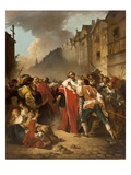 President Mole Manhandled by Insurgents, 1778/79 Giclée-Druck von Francois Andre Vincent