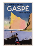 Poster Advertising the Gaspe Peninsula, Quebec, Canada, C.1938 (Colour Litho) Premium Giclee Print by  Canadian