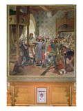 Etienne Marcel (D.1358) Protecting the Dauphin from the Mob in 1358 Giclee Print by Jean Paul Laurens