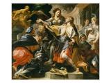Solomon Worshiping the Pagan Gods, c.1695/1700 Giclee Print by Domenico Antonio Vaccaro