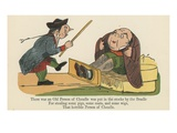 There Was an Old Person of Cheadle Was Put in the Stocks by the Beadle Giclee Print by Edward Lear