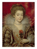 Portrait of the Infanta Anna Giclee Print by Frans II Pourbus