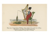 There Was a Young Lady of Welling, Whose Praise All the World Was A-Telling Giclee Print by Edward Lear