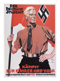 Nazi Propaganda Poster, 1935 (Colour Litho) Giclee Print by  German