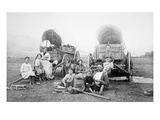 American Pioneer Family, C.1870 (B/W Photo) Giclee Print by  American Photographer