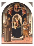 Madonna and Child with Saints (Oil on Panel) Giclee Print by Jacopo Pontormo