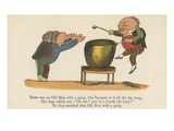There Was an Old Man with a Gong, Who Bumped at it All the Day Long Giclee Print by Edward Lear