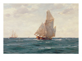 A Ketch and a Brigantine Off the Coast, C.1905 Giclee Print by Thomas J. Somerscales