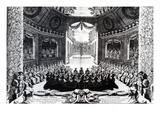 The Comedie-Francaise Theatre, 1675 (Engraving) Giclee Print by  French