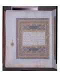Manuscript of a Koran, C.1425-50 (W/C, Gold and Ink on Paper) Giclee Print by  Persian