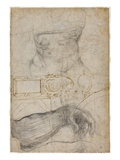 Scheme for the Decoration of the Ceiling of the Sistine Chapel, C.1508 Premium Giclee Print by  Michelangelo Buonarroti