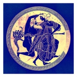 Satyr and Maenad, Illustration from 'Greek Vase Paintings' by J. E. Harrison and D. S. Maccoll Giclee Print by  English