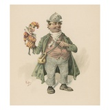 Short, Illustration from 'Character Sketches from Charles Dickens', C.1890 (Colour Litho) Giclee Print by Joseph Clayton Clarke