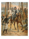 General Grant in the Wilderness Campaign, 5th May 1864 (Colour Litho) Giclee Print by Henry Alexander Ogden