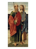 St. Paul and St. James the Elder, C.1499 (Tempera on Wood Panel) Giclee Print by Cristoforo Caselli