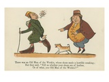 There Was an Old Man of the Wreking, Whose Shoes Made a Horrible Creaking Giclee Print by Edward Lear