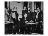 President William Mckinley (1843-1901) Witnesses the Signing of the The Peace Protocol Giclee Print by  American Photographer