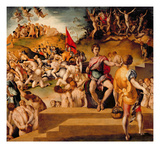 The Martyrdom of the Theban Legion Giclée-tryk af Jacopo Pontormo