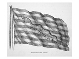 The American Naval Flag, as Flown by John Paul Jones (Litho) Giclee Print by  American