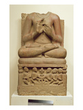 Carving of Buddha in the Attitude of Preaching a Sermon, Sarnath, Uttar Pradesh, 5th Century Giclee Print by  Indian