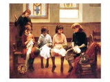 The Sewing Lesson Giclee Print by Constant Mayer