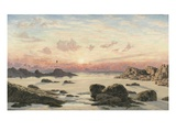 Bude Sands at Sunset, 1874 (Oil on Canvas) Giclee Print by John Brett