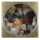 Twenty Dogs, 1865 Giclee Print by Reuben Bussey