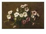 Petunias, 1881 Giclee Print by Ignace Henri Jean Fantin-Latour