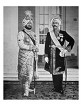 Two Sikh Princes of the Punjab, 20th July 1918 (B/W Photo) Giclee Print by  English Photographer
