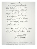 Letter of Capitulation of Yorktown, Signed by Lord Cornwallis, 19 October 1781 (Litho) Giclee Print by  American