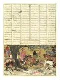 Ardashir Battling Bahman, the Son of Ardavan, Illustration from the &#39;Shahnama&#39; (Book of Kings) Giclee Print by  Persian