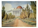 View of the Capitol (Colour Litho) Giclee Print by  American