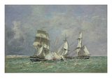 The Capture of the 'Petit Rodeur', 1878 Giclee Print by Eugène Boudin