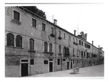 Row of Houses on the Calle Riello, Venice (B/W Photo) Giclee Print by  Italian Photographer