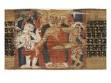 Folio 126B Buddha's Descent from the Heaven, from the 'Astasahasrika Prajnaparamita' Giclee Print by  Nepalese