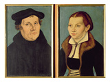 Double Portrait of Martin Luther and Katherin Von Bora, 1529 (Oil on Panel) Giclee Print by Lucas Cranach the Elder