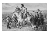 Border Ruffians from Missouri Invading Kansas, 1856 (Etching) Giclee Print by  American