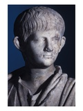 Togate Statue of the Young Nero, Front View of the Head, C.50 Ad (Marble) (Detail of 140378) Premium Giclee Print by  Roman