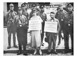 A Jewish Man and a Non-Jewish Woman Pilloried by Nazi Officers Giclee Print by  German photographer