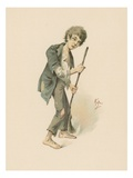 Jo, Illustration from 'Character Sketches from Charles Dickens', C.1890 (Colour Litho) Giclee Print by Joseph Clayton Clarke