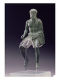 Statuette of a Rider, Etruscan, Late 5th Century BC (Bronze) Giclee Print