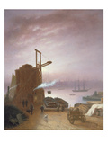 The Hudson River from Hoboken, 1878 (Oil on Panel) Giclee Print by Robert Walter Weir