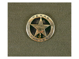 Texas Rangers Badge (Metal) Giclee Print by  American